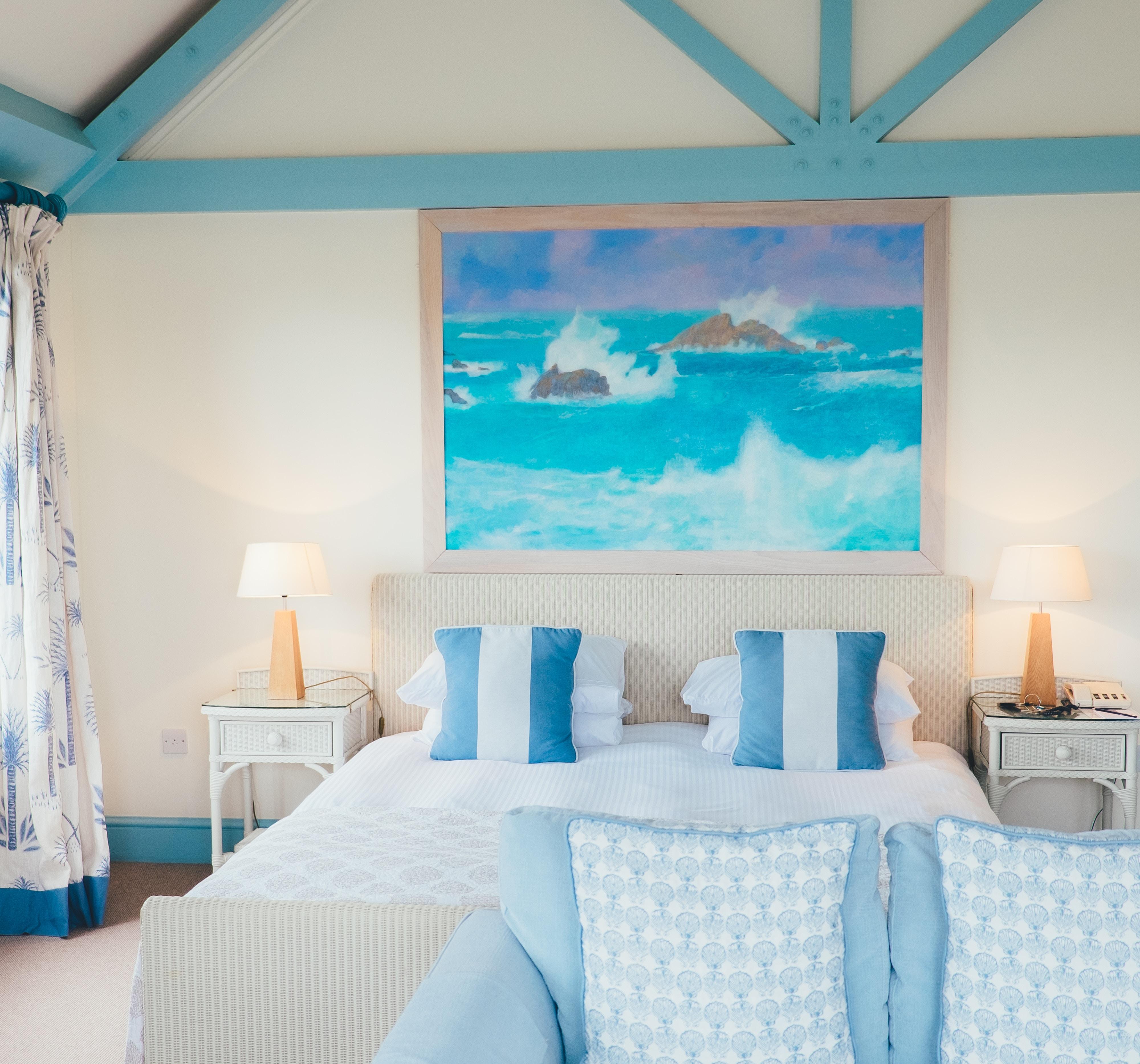 Almofadas e mantas - decoração na praia